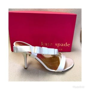 Kate Spade ivory satin bridal shoe, size 9.5 NEW!